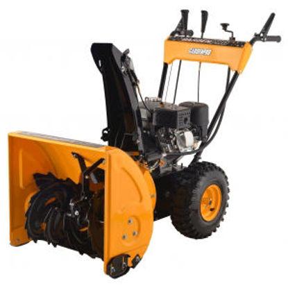 Immagine di Spazzaneve doppio stadio 4 hp, larghezza di lavoro cm.62,  velocita' variabile e retromarcia, avviamento manuale
