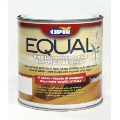 Immagine di 'equal', smalto all'acqua inodore per interni, legno e ferro, colore beige, 500 ml.