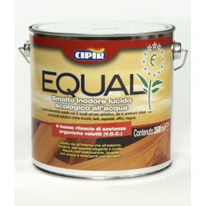 Immagine di 'equal', smalto all'acqua inodore per interni, legno e ferro, colore arancio, 2,5 lt.