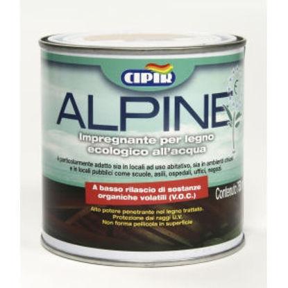 Immagine di 'alpine', impregnante all'acqua per legno, ecologico, colore noce scuro 750 ml.
