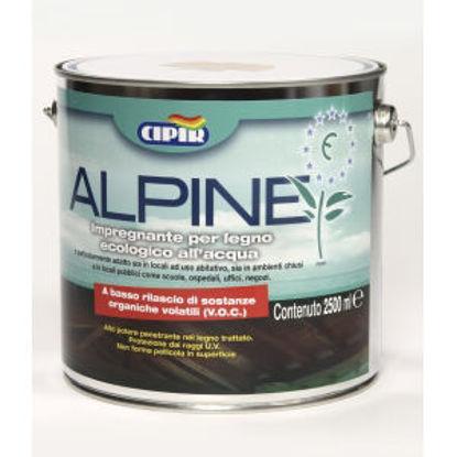 Immagine di 'alpine', impregnante all'acqua per legno, ecologico, colore noce chiaro, 2,5 lt.