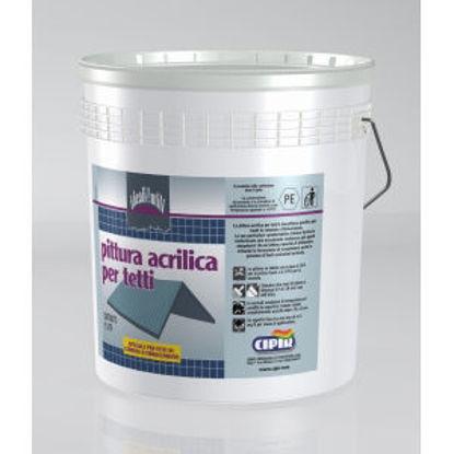 Immagine di Acrilica per tetti - pittura acrilica speciale per tetti in cemento, fibrocemento.  marrone - 15 lt