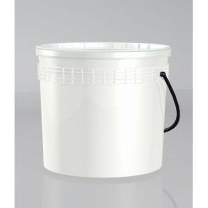 Immagine di Secchio con coperchio - latta vuota con coperchio per diluizione idropitture e usi diversi. 2500 ml