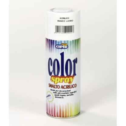 Immagine di Color spray - smalto acrilico spray, brillante per esterni e interni. bianco lucido - 400 ml