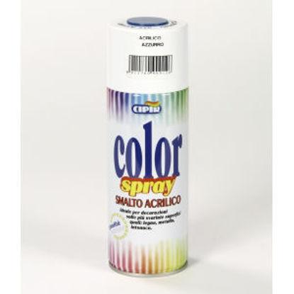 Immagine di Color spray - smalto acrilico spray, brillante per esterni e interni. azzurro - 400 ml
