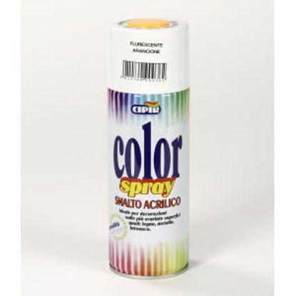 Immagine di Color spray - smalto acrilico spray, brillante per esterni e interni. arancione fluorescente - 400 ml