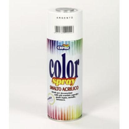 Immagine di Color spray - smalto acrilico spray, brillante per esterni e interni. argento metallico - 400 ml