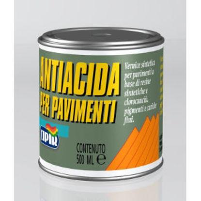 Immagine di Antiacida per pavimenti - vernice sintetica per pavimenti in cemento.  grigio perla - 500 ml