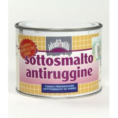 Immagine di Sottosmalto antiruggine, vernice di fondo diluibile con acquaragia, colore arancione, 500 ml.