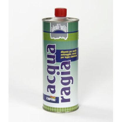 Immagine di Acquaragia - diluente per smalti, antiruggini, vernici per legno sintetiche. 1000 ml