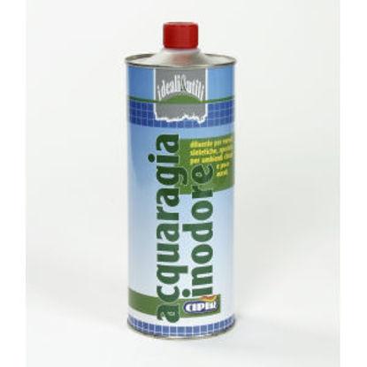 Immagine di Acquaragia inodore - diluente per vernici sintetiche, speciale per ambienti chiusi e poco aerati. 1000 ml