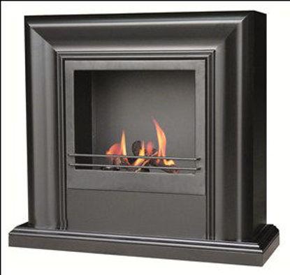 Immagine di Biocamino modigliani mant.legno nero