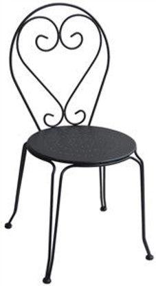 Immagine di sedia liberty in ferro, dimensioni cm.45x48 h.90