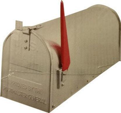 Immagine di cassetta postale americana in alluminio, misure cm. l.48 p.22 h.17