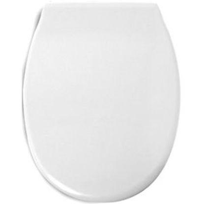 Immagine di Sedile wc modello 'polo', colore bianco.
