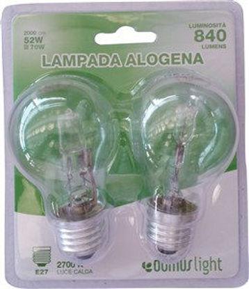 Immagine di Lamp.alogena goccia e27 52w 2pz