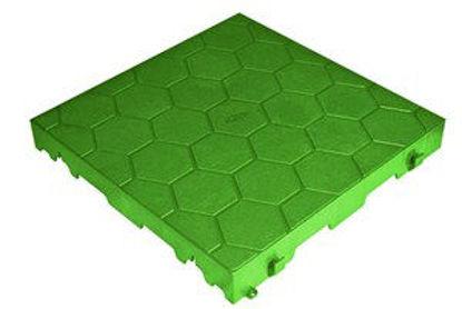 Immagine di Piastrella resina cm.40x40 chiusa verde