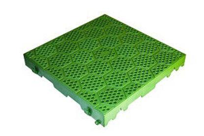 Immagine di Piastrella resina cm.40x40 forata verde