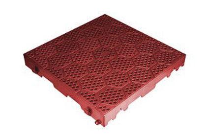 Immagine di Piastrella resina cm.40x40 forata rossa