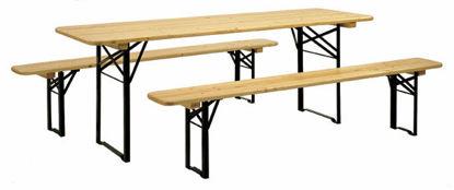 Immagine di Set birreria 220x80 tavolo+2 panche 1a