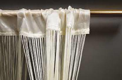 Immagine di Tenda beauty da interno in poliestere bianca cm.100x220