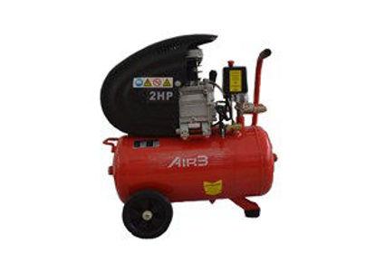 Immagine di Compressore 24 litri 2hp 1500w pressione 8 bar 2 attacchi rapidi colore rosso