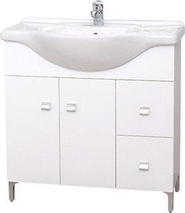Immagine di Base cm.85 2 ante+2 cass + lavabo