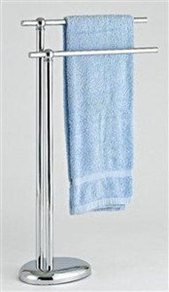 Immagine di Piantana porta asciugamano metallo cromato lusso cm.46x20x82h.