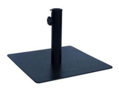 Immagine di base per ombrellone quadra, in acciaio colore nero, dimensioni cm.45x45