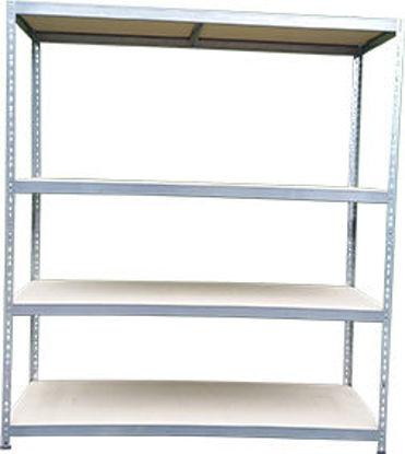 Immagine di Banco da lavoro+scaffale  altezza cm.180, larghezza cm.100, profondita' cm.60/30, piani truciolare