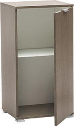 Immagine di base 1 anta in legno nobilitato, finitura rovere grigio, misure cm. l.45 h.85 p.38, peso kg. 18