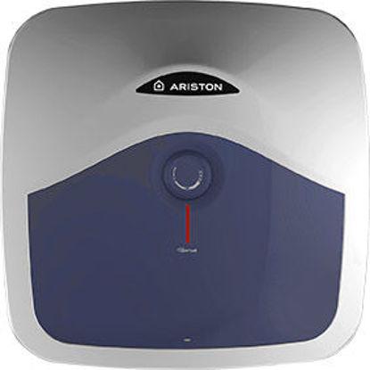 Immagine di Scaldabagno ariston elettrico sopralavello  blu evo r, lt.10, 1,2kw,  dim.cm.36x30x36h. classe energetica  a