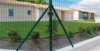 Immagine di Rete metallica rivestita in pvc verde  l.10mt h.1,98