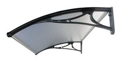 Immagine di Pensilina con supporto in polipropilene rinforzato e copertura in policarbonato compatto satinato  100x80cm