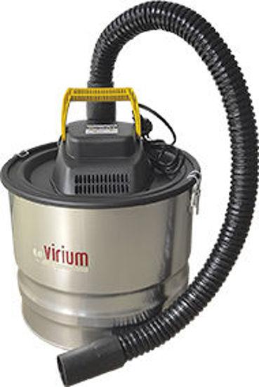 Immagine di Aspiracenere elettrico potenza 1000 watt serbatoio lt.18 tubo di aspirazione mt.1,20 filtro hepa lavabile
