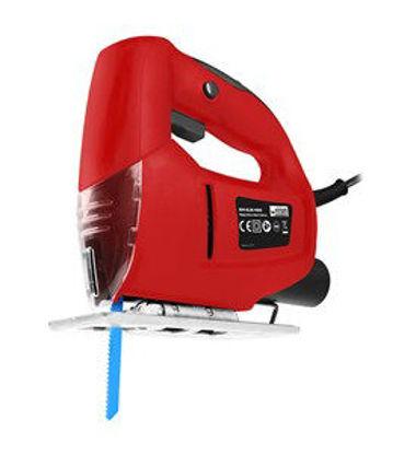 Immagine di Seghetto alternativo 480 watt, massima capacita' taglio mm.60, con guidalama, adattatore per estrazione polvere, 1 lama x legno in dotazione.