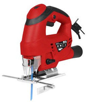 Immagine di Seghetto alternativo 650 watt, massima capacita' taglio mm.70 legno, 8mm. ferro, movimento a pendolo, riga guida per il taglio con guidalama, adattatore per estrazione polvere, 1 lama per legno in dotazione