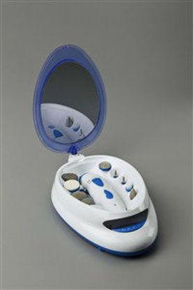 Immagine di Set manicure-pedicure con asciugasmalto, 2 velocita', specchio orientabile 360°