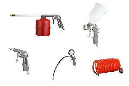 Immagine di Kit 5 accessori per compressore con attacchi rapidi