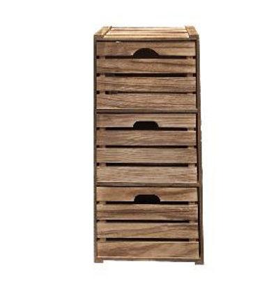 Immagine di Cassettiera multiuso in legno con 3 cassetti
