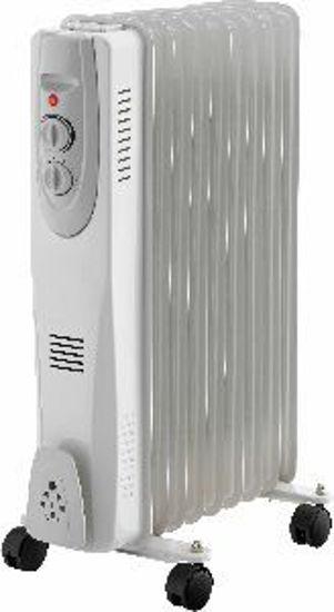 Immagine di radiatore elettrico ad olio a 11 elementi, potenza nominale 2500 watt