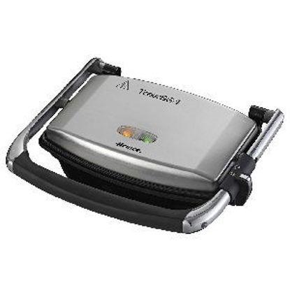 Immagine di ariete bistecchiera compatta inox con termostato altezza regolabile potenza 1000w