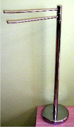 Immagine di piantana cromata porta asciugamani h.84