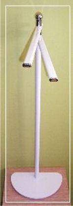 Immagine di colonna bianca/cromo porta carta, porta scopino h.53
