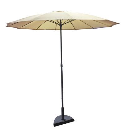 Immagine di ombrellone parasole diametro cm.230 copertura in poliestere colore ecrù, palo in acciaio d.32 mm