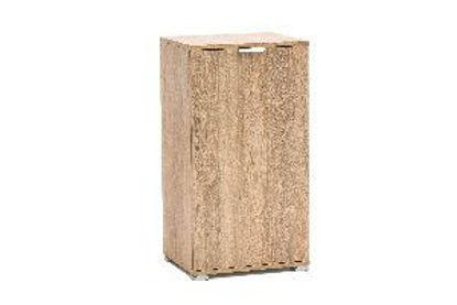 Immagine di base 1 anta in legno nobilitato, finitura sonoma, misure cm. l.45 h.85 p.38, peso kg. 18