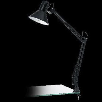 Immagine di firmo lampada da tavolo estendibile con morsetto colore nero max wattage 1x40w