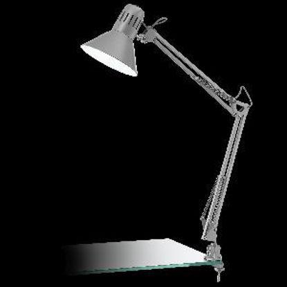 Immagine di firmo lampada da tavolo estendibile con morsetto colore argento max wattage 1x40w
