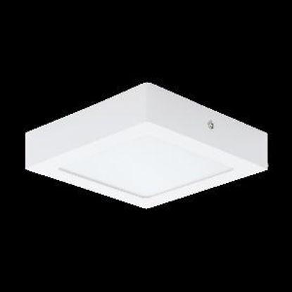 Immagine di fueva 1 plafoniera in metallo bianco a led 12w misure cm. 17x17 h.4