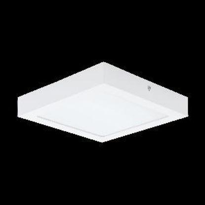 Immagine di fueva 1 plafoniera in metallo bianco a led 18w misure cm. 22,5x22,5 h.4